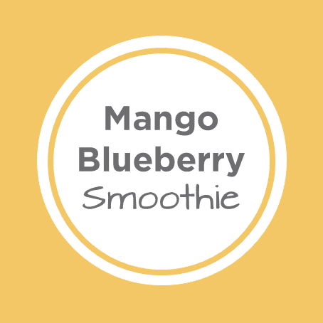 mango blueberry smoothie cover