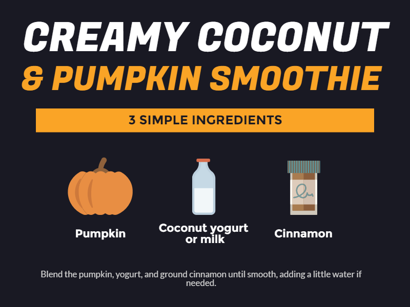 Coconut Pumpkin Smoothie Recipe
