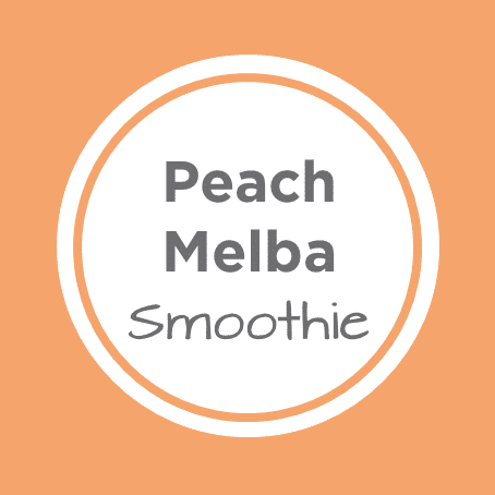 peach melba smoothie cover