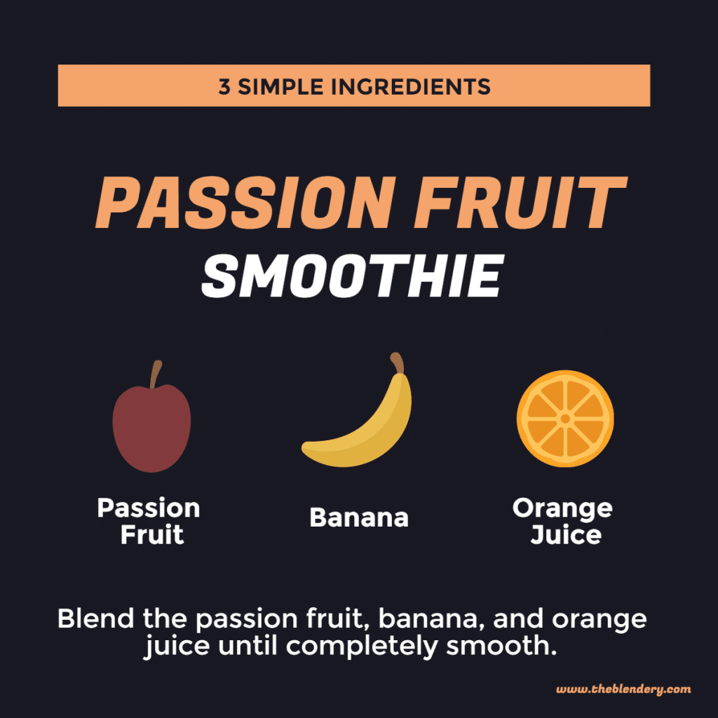 Passion Fruit Smoothie Infographic