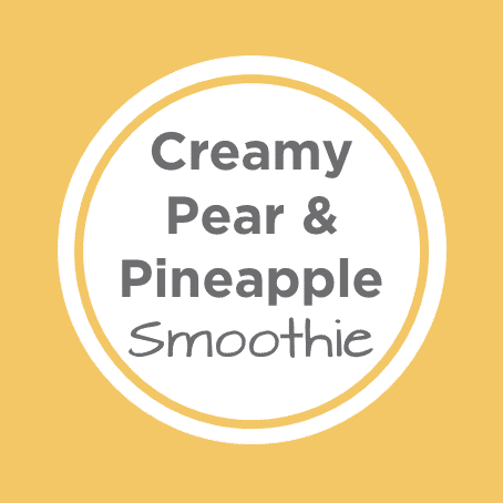 Pear Avocado Pineapple Smoothie Cover