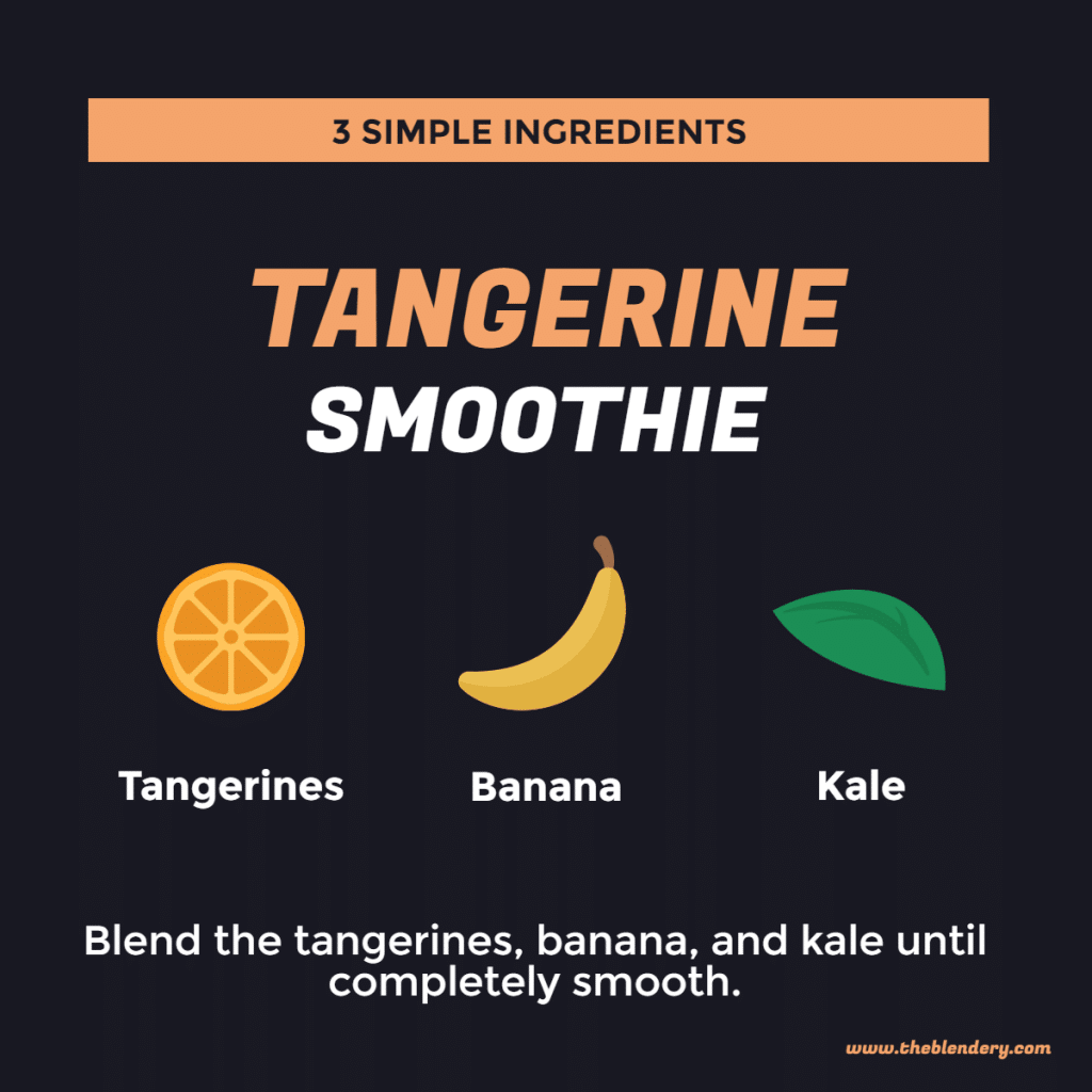 tangerine smoothie infographic