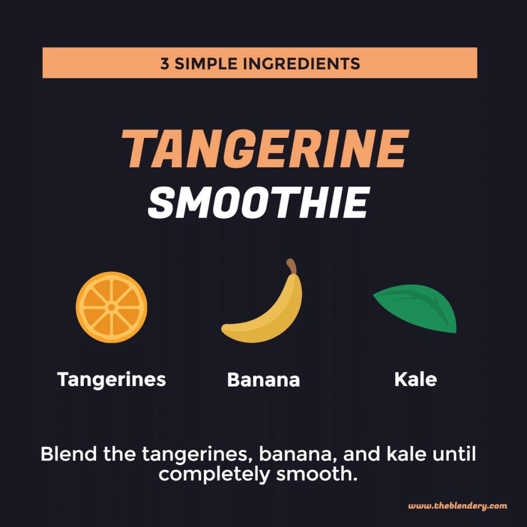 tangerine smoothie infographic