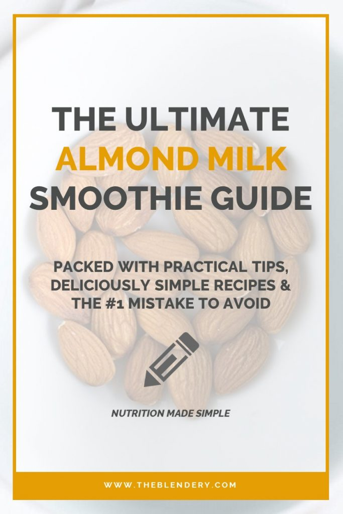 How To Make A Smoothie With Almond Milk Pinterest