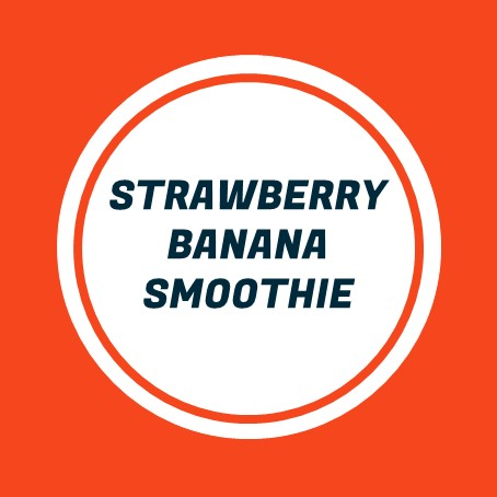 Vegan Strawberry Banana Smoothie Tile New