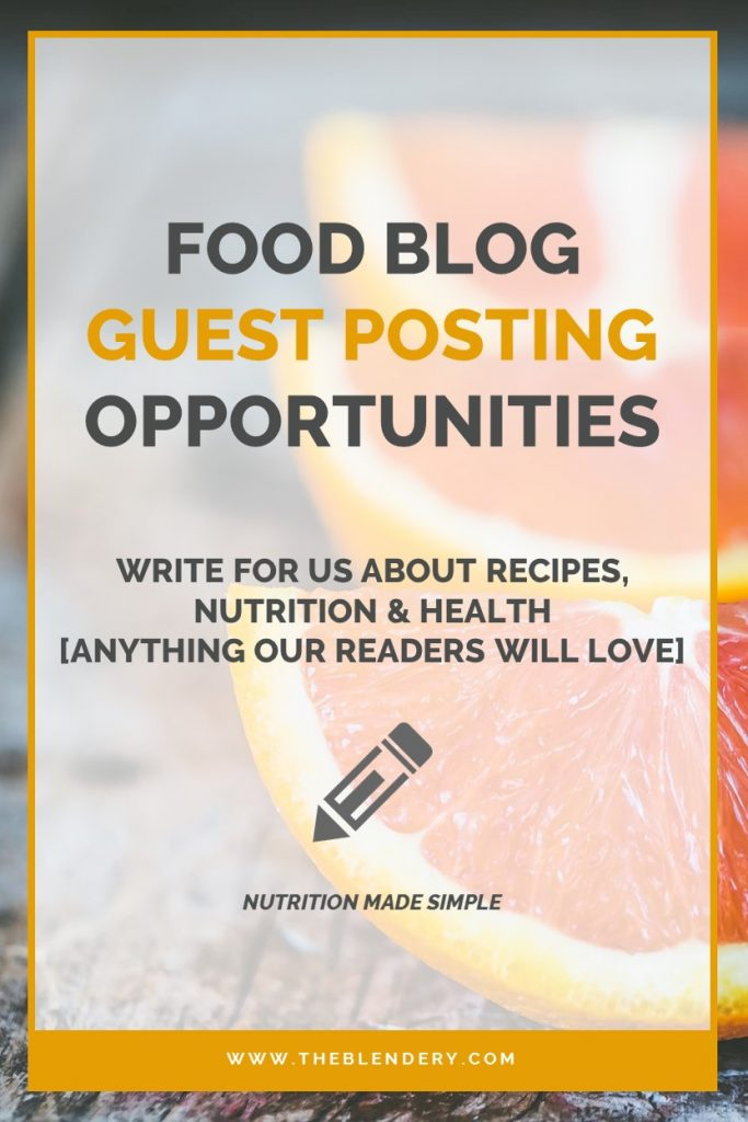 Guest Post Food Blog Pinterest