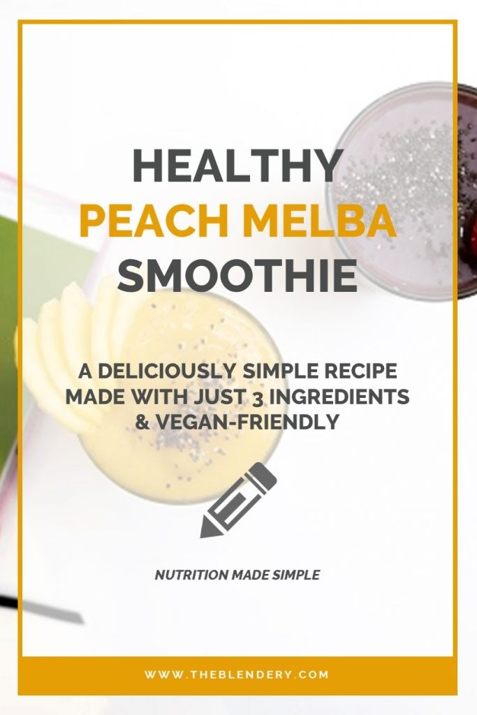 Easy Peach Smoothie Pinterest