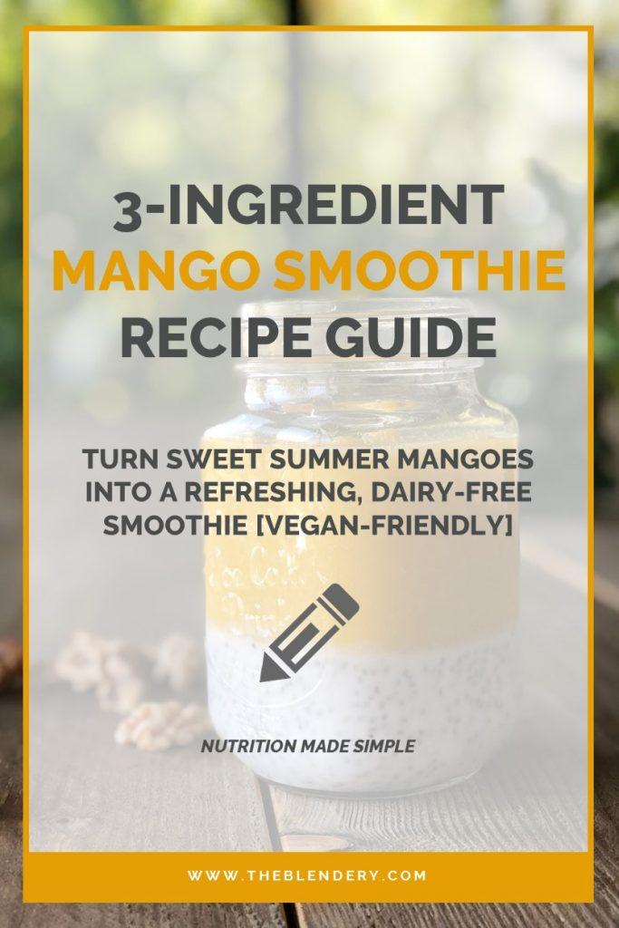 Mango Smoothie Thermomix Recipe Pinterest