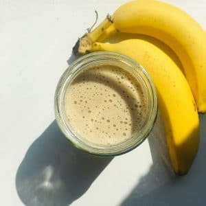 Banana Almond Milk Protein Smoothie