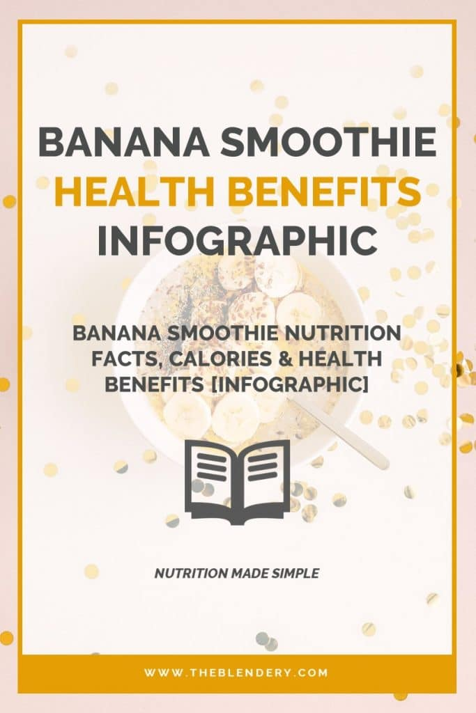 Banana Smoothie Nutrition Facts Infographic