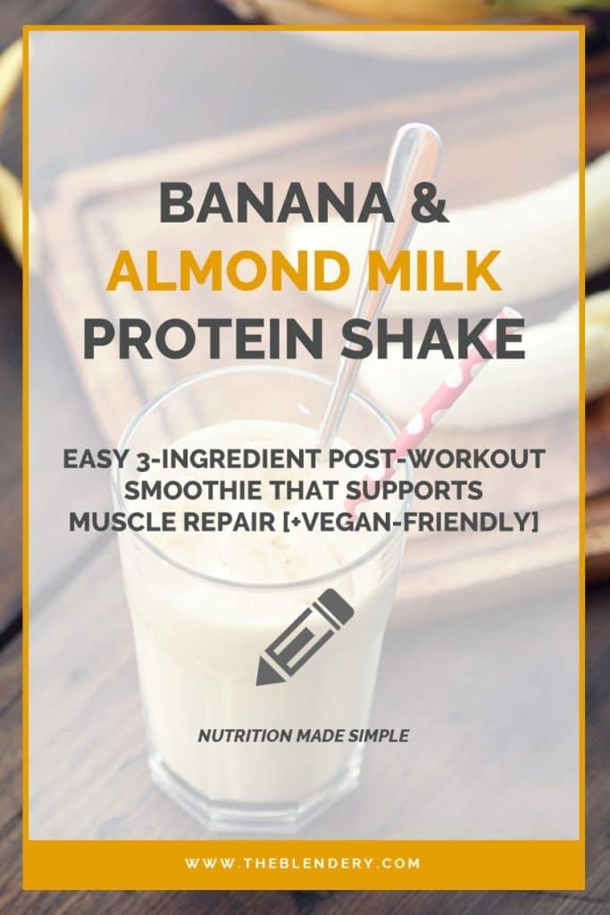 Healthy Banana & Almond Milk Protein Smoothie