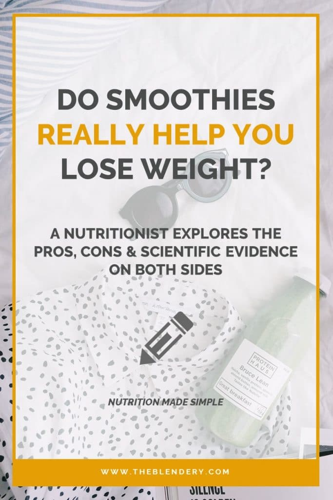 benefits of smoothies for weight loss