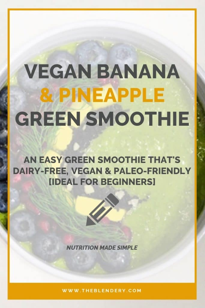spinach pineapple banana smoothie benefits