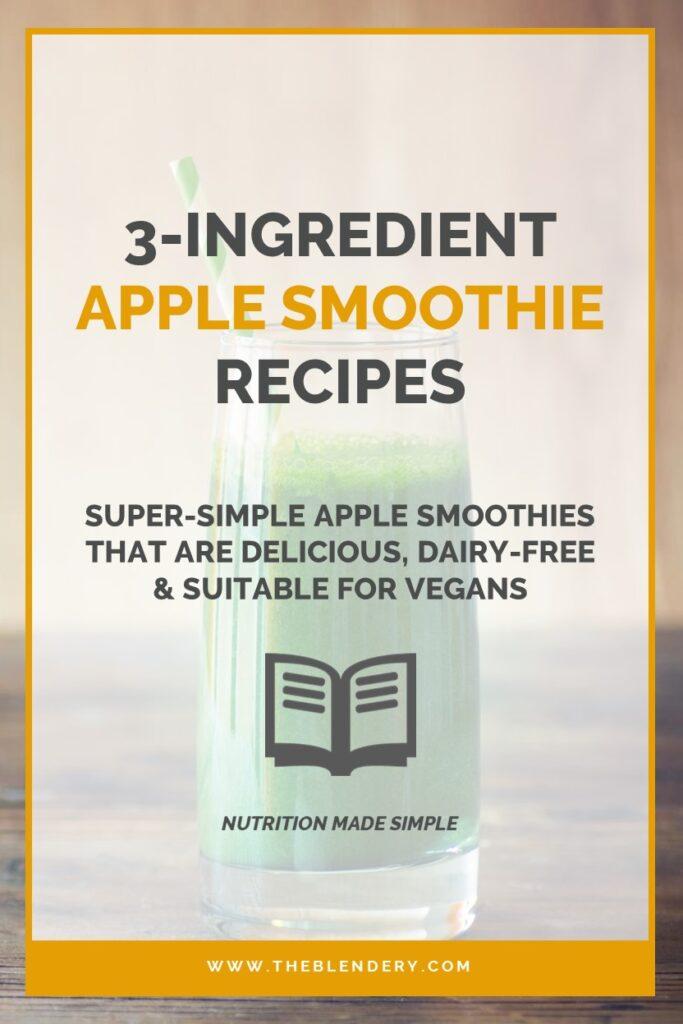 Apple Smoothies Without Yogurt Milk